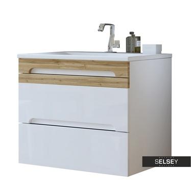 Waschbeckenunterschrank WARNER weiß 80 cm