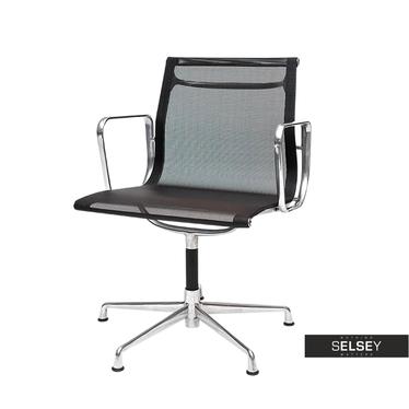 Drehstuhl im Stil EAMES 108 schwarz in Netzoptik