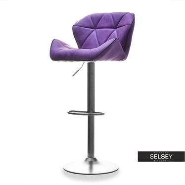 Barhocker 15 violett/Graphit drehbar mit Steppung