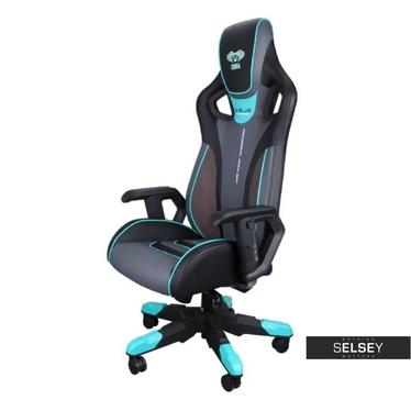 Drehstuhl E-BLUE COBRA III schwarz/blau