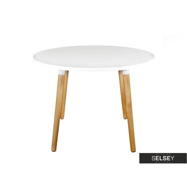 Tisch COPINE rund 100 cm in Weiß
