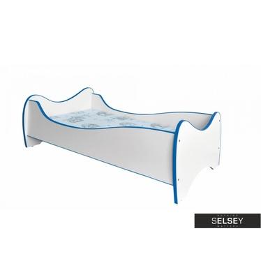 Kinderbett FOLX weiß/blau
