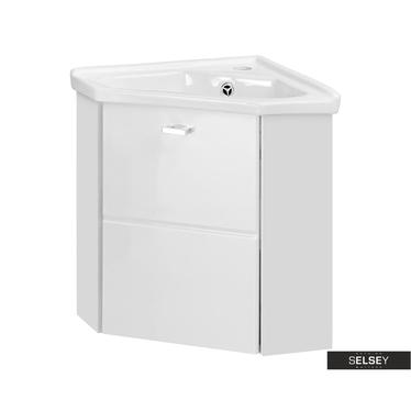 Waschbeckenunterschrank MARBELLA weiß 40 cm Eckschrank