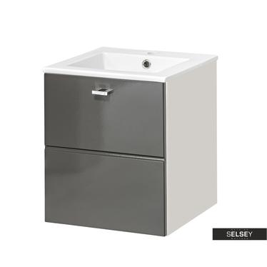Waschbeckenunterschrank MARBELLA grau 40 cm