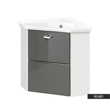 Waschbeckenunterschrank MARBELLA grau 40 cm Eckschrank