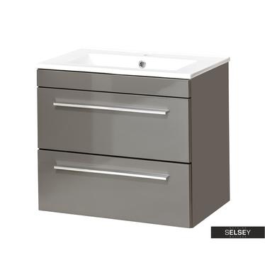 Waschbeckenunterschrank MALTA grau 60 cm