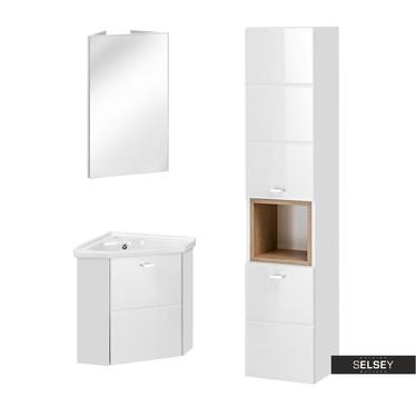 Badezimmermöbel-Set MARBELLA mit Eckschrank