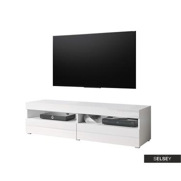 TV-Lowboard KUBRICK mit Hochglanzfronten 140 cm (Farbauswahl)
