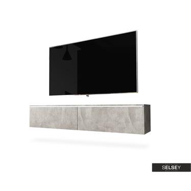TV-Lowboard KANE hängend, optional mit LED 140 cm (Farbauswahl)