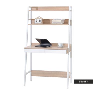 Schreibtisch BERG in Leiteroptik weiß/Sonoma Eiche