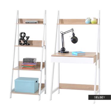 Schreibtisch-Set DALEN 2-teilig mit Regal