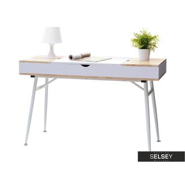 Aufklappbarer Schreibtisch VISBY weiß