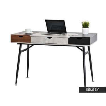 Schreibtisch BODEN in Patchwork-Optik