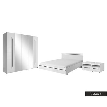 Schlafzimmer-Set JUVEN mit Hochglanzfronten