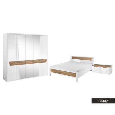 Schlafzimmer-Set AMAZONKA mit Hochglanzfronten