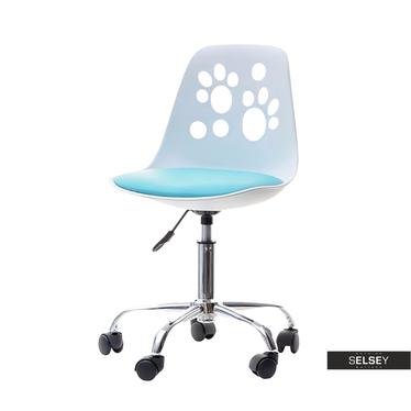 Schreibtischstuhl FOOT weiß/blau