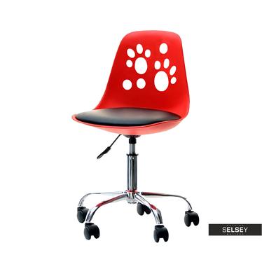 Schreibtischstuhl FOOT rot/schwarz