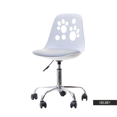 Schreibtischstuhl FOOT weiß/grau