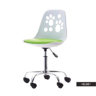 Schreibtischstuhl FOOT weiß/grün