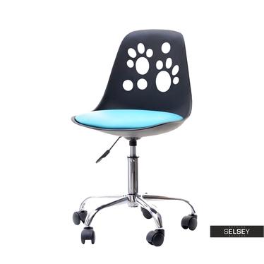 Schreibtischstuhl FOOT schwarz/blau