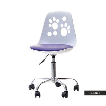 Schreibtischstuhl FOOT weiß/violett