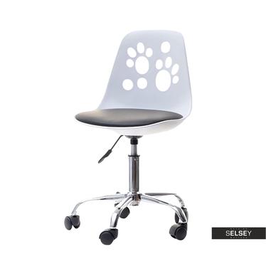 Schreibtischstuhl FOOT weiß/schwarz
