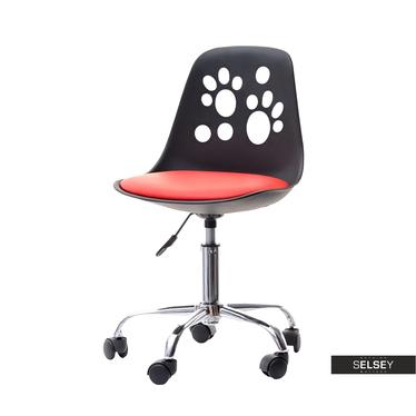 Schreibtischstuhl FOOT schwarz/rot