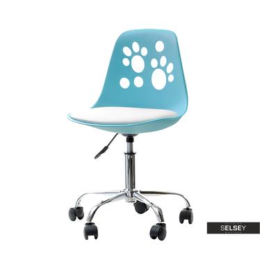 Schreibtischstuhl FOOT blau/weiß