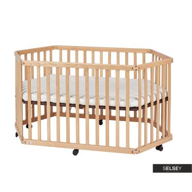 Babybett BABY Laufgitter mit Matratze und Gitterschutz