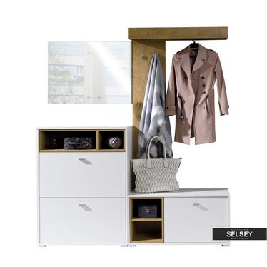 Garderobenset JULIET u. a. mit Sitzbank und Kleiderstange