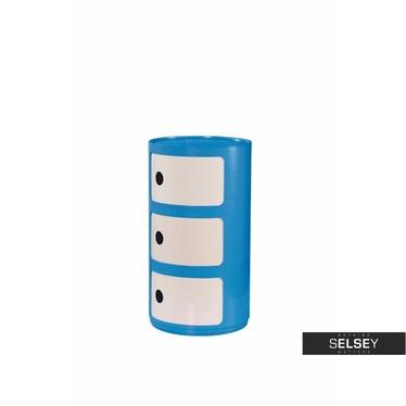 Container ROLL blau/weiß