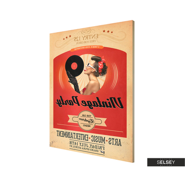Obraz - Vintage party 50x70 cm