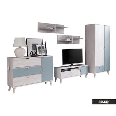 Möbel-Set ABRA CADABRA hellblau mit Schrank