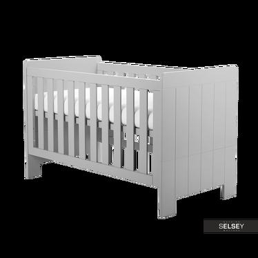 Baby- und Kinderbett CALMO grau umbaubar