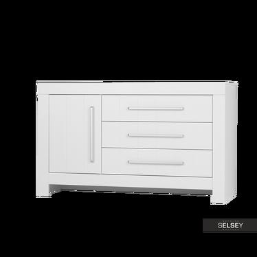 Sideboard CALMO weiß mit 3 Schubladen