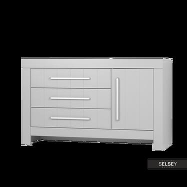 Sideboard CALMO grau mit 3 Schubladen