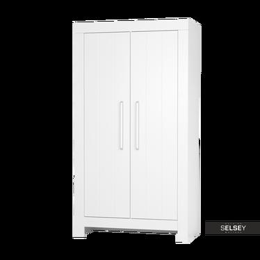 Kleiderschrank CALMO weiß mit 2 Türen