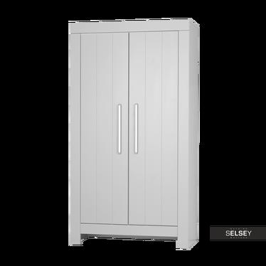 Kleiderschrank CALMO grau mit 2 Türen