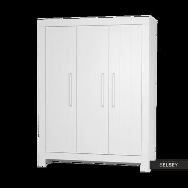 Kleiderschrank CALMO weiß mit 3 Türen