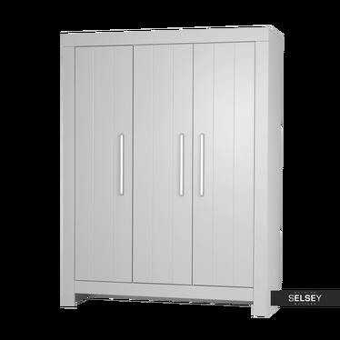 Kleiderschrank CALMO grau mit 3 Türen