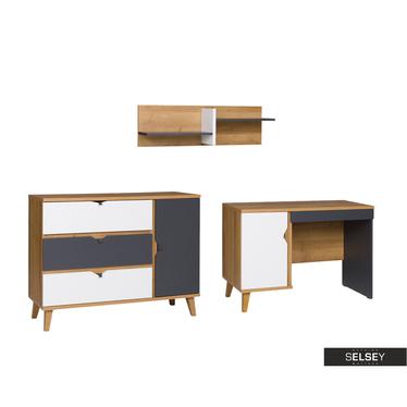 Möbel-Set ABRA CADABRA Graphit mit Sideboard