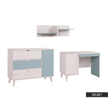 Möbel-Set ABRA CADABRA hellblau mit Sideboard
