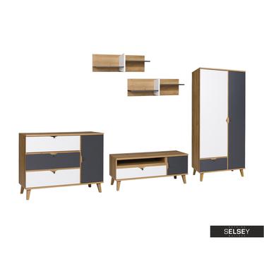 Möbel-Set ABRA CADABRA Graphit mit Schrank