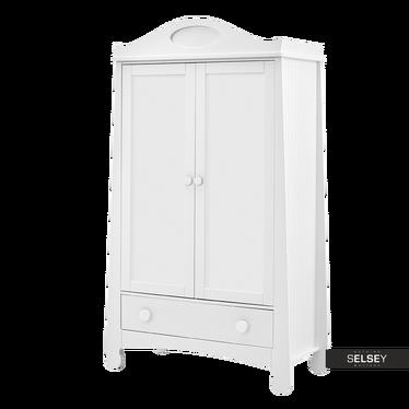 Kleiderschrank PAROLE weiß mit 2 Türen