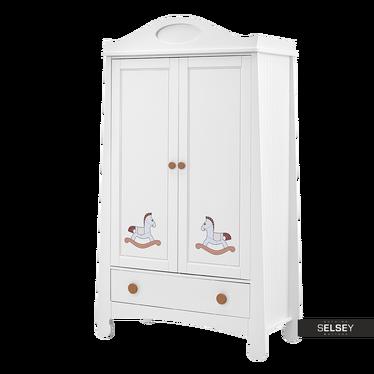 Kleiderschrank PAROLE mit Schaukelpferd mit 2 Türen