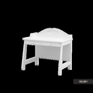 Schreibtisch PAROLE weiß mit 2 Schubladen
