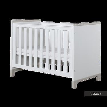 Babybett MINI weiß/grau optional mit Bettkasten