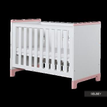 Babybett MINI weiß/rosa optional mit Bettkasten