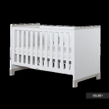 Babybett MINI weiß/grau umbaubar