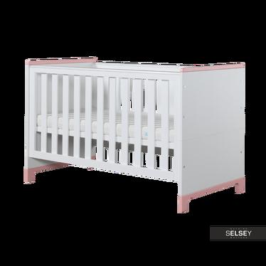 Babybett MINI weiß/rosa umbaubar